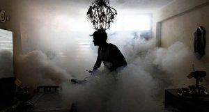 уничтожение тараканов туманом